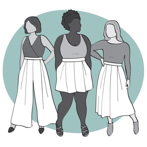 Winslow Culottes pattern illustration