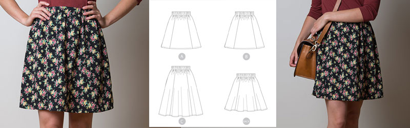 Rae skirt by Sewaholic