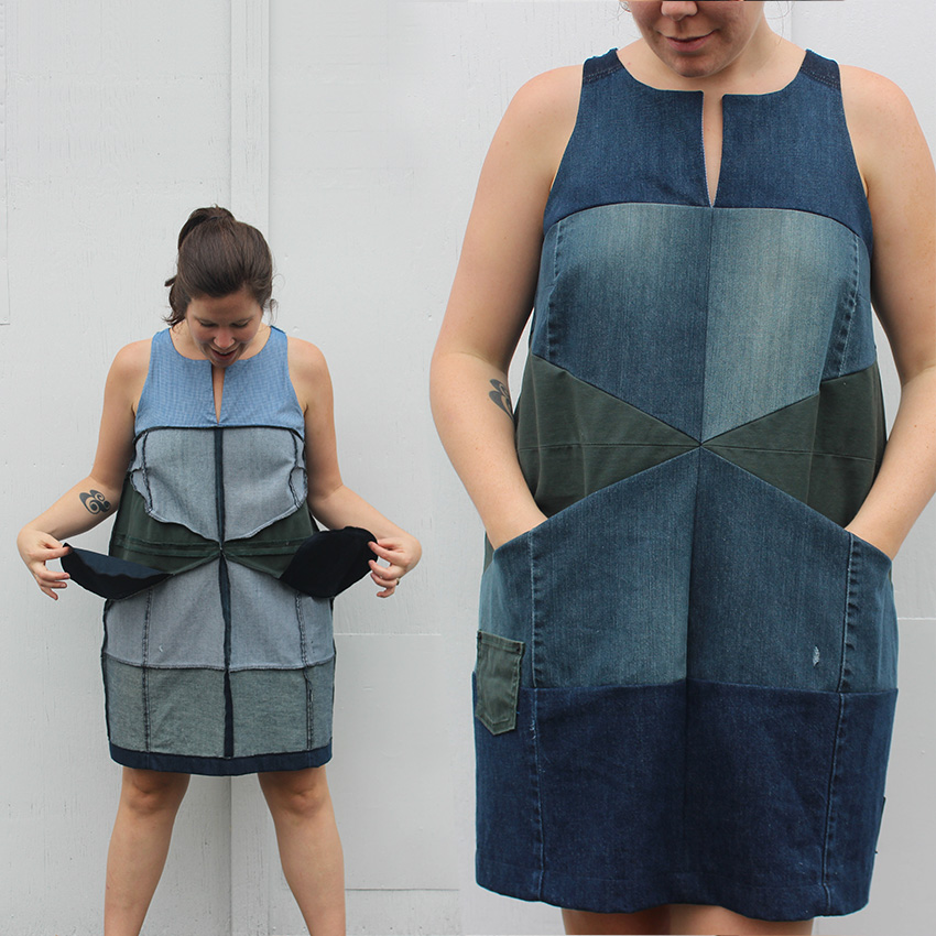 Re-fashioners 2016 : Patchwork Denim Dress
