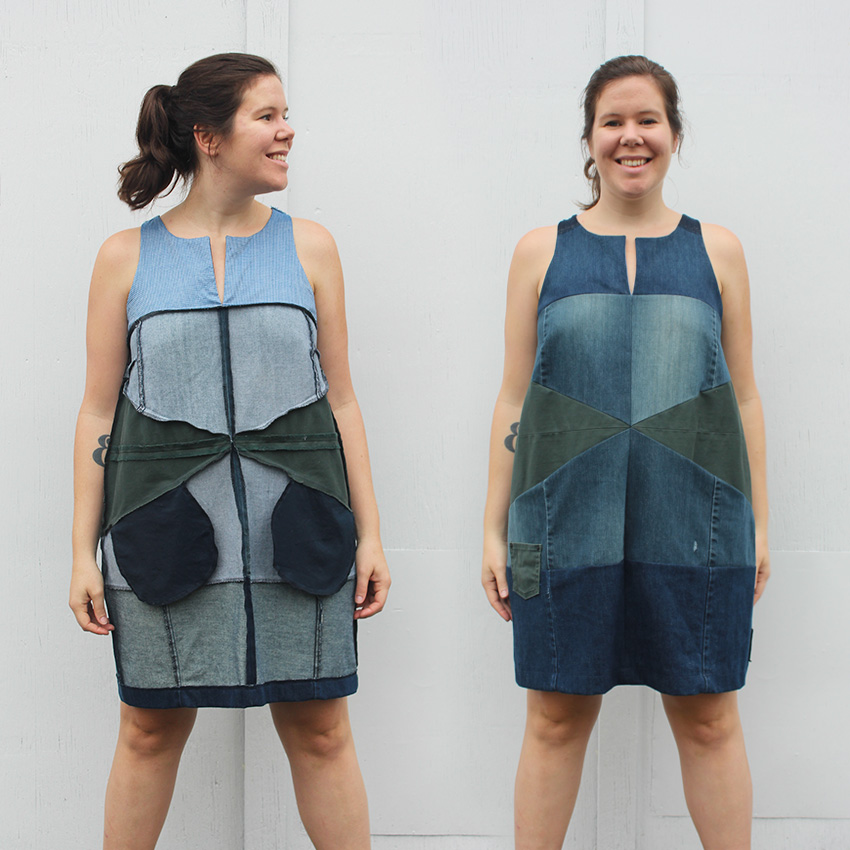Helen's Closet Refashioners 2016 Denim Patchwork Dress