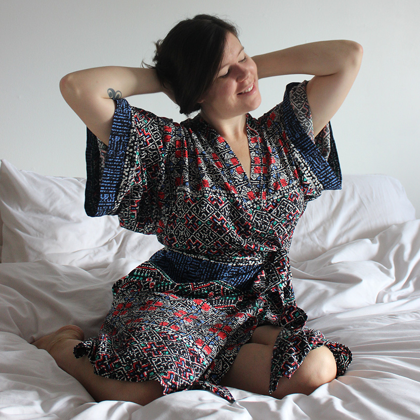 Self Drafted Kimono Robe