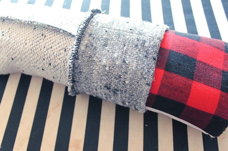 Sewing a knit cuff