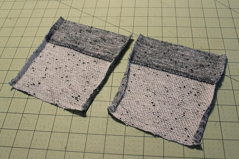 How to sew a knit patch pocket