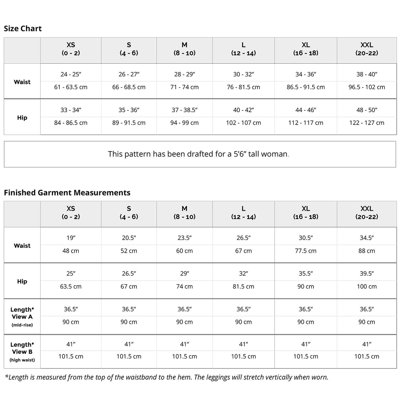 Avery Leggings PDF Pattern