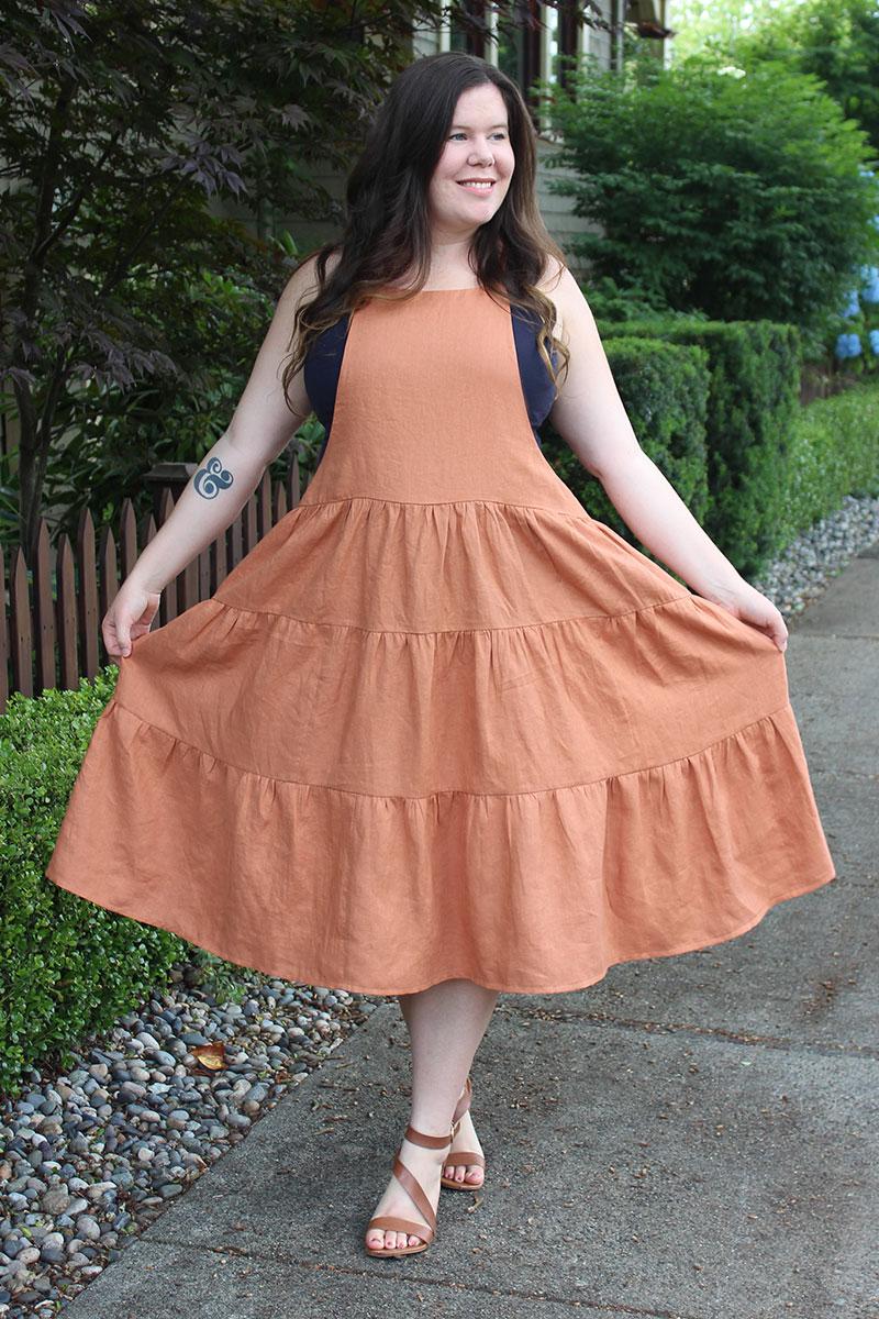 York Pinafore Tiered Skirt