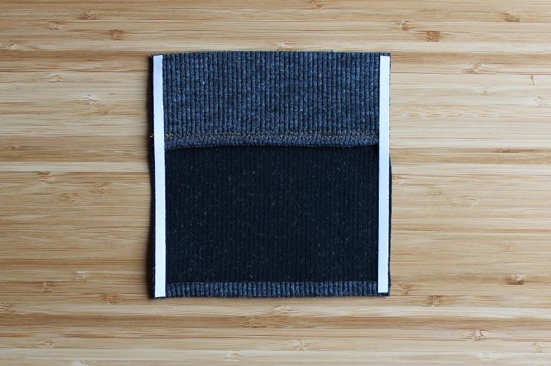 Blackwood Cardigan perfect pocket using Wonder Tape