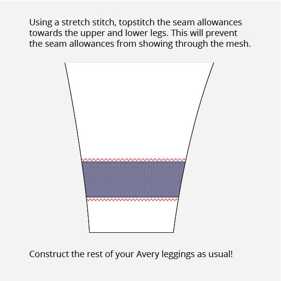 Avery Leggings Mesh Blocking or Color Blocking