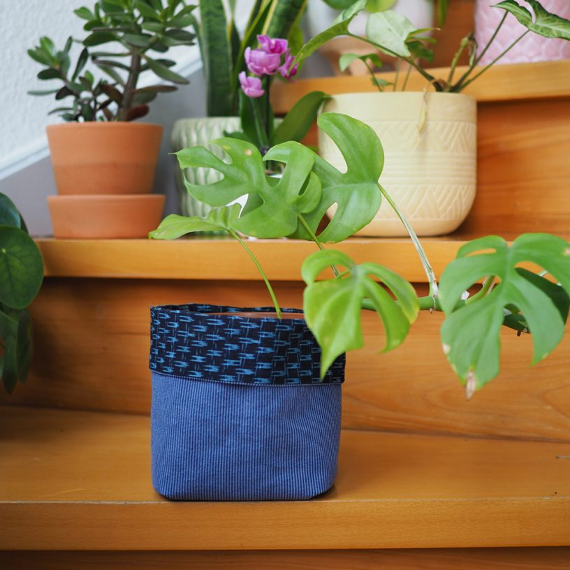 DIY Fabric Plant Bucket Scrap Busting Project