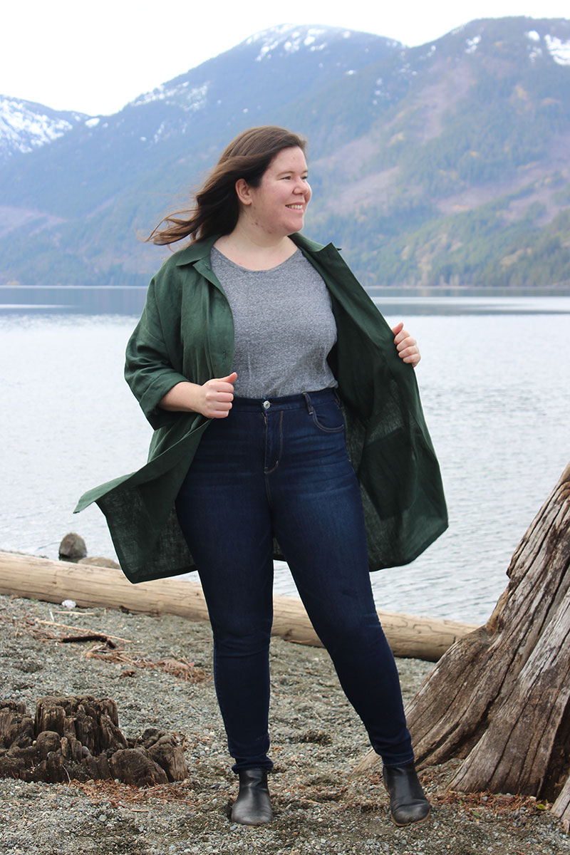 Ilford Jacket in midweight linen by Helen's Closet