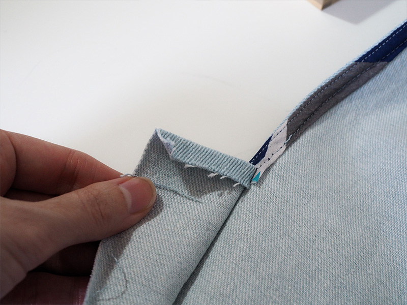 York Hack by Saki Jane, Creating the Front Placket