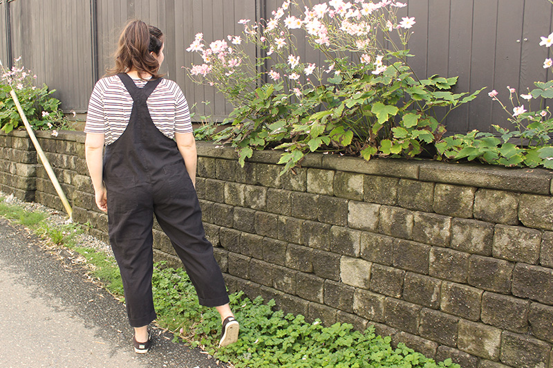Classic Black Yanta Overalls, Sewing Pattern by Helen's Closet