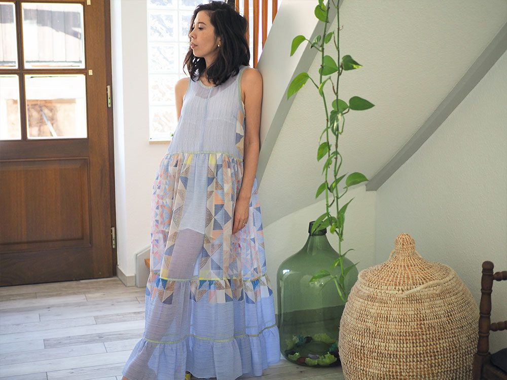 Ashton Top Dress Hack sheer fabric with tiered gathered skirt
