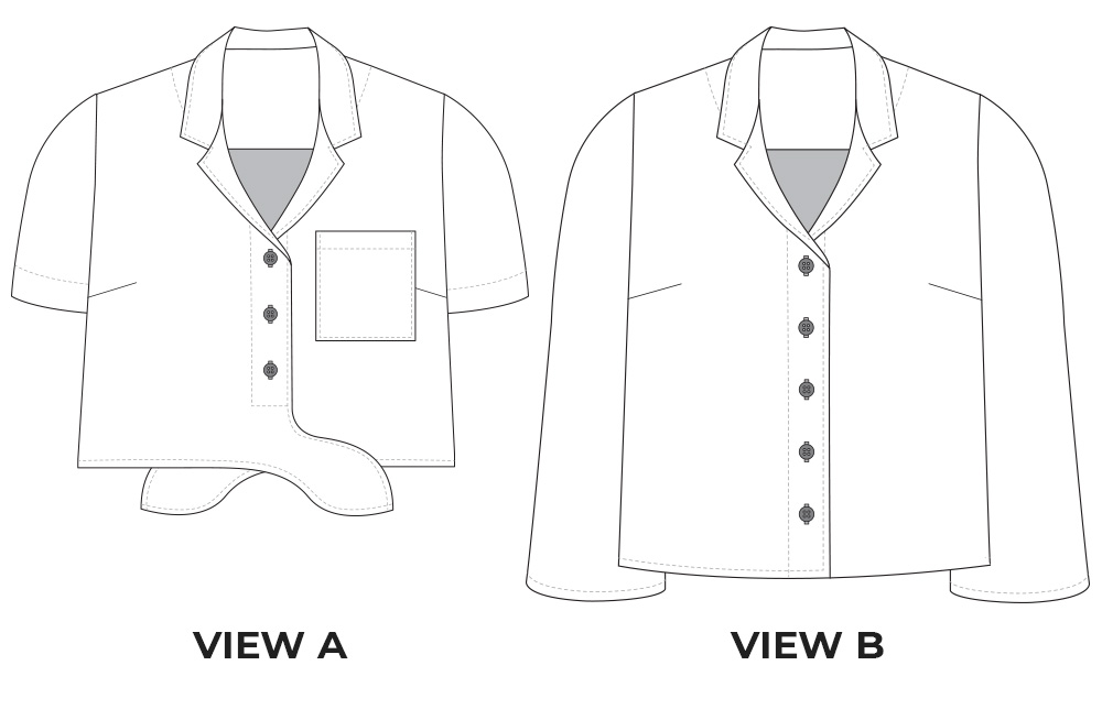 Gilbert Top Flat Illustration, both pattern views can be combined into new ideas.