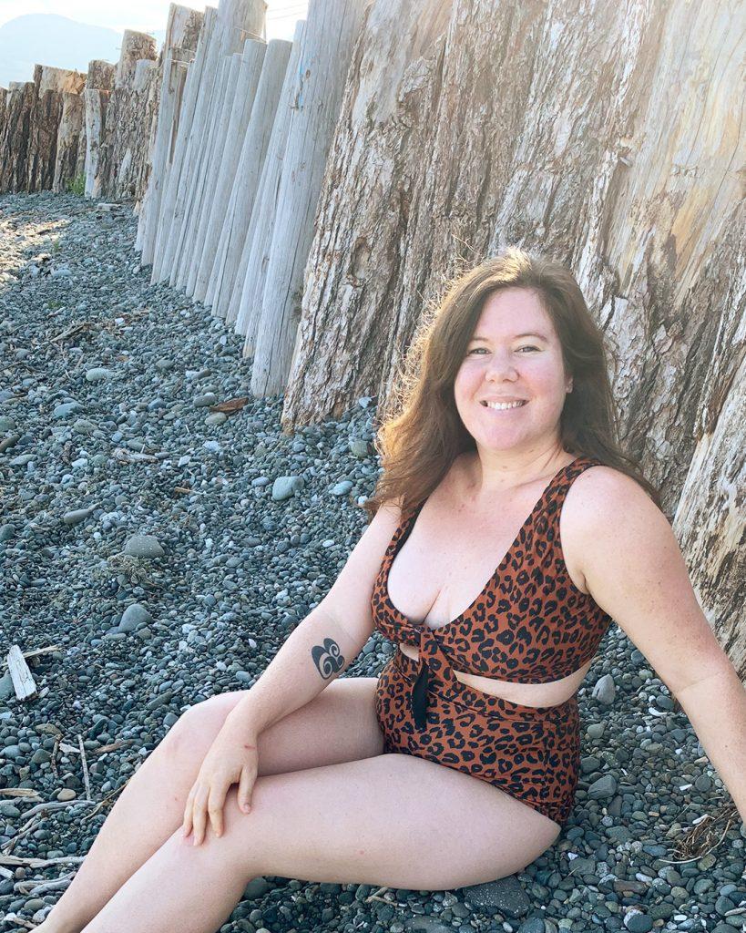 Leopard Print Swimsuit pattern.