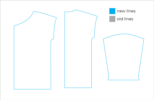 Technical illustration of how to draft a jacket lining