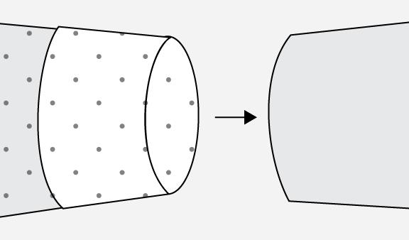 Technical illustration of sleeve hem.