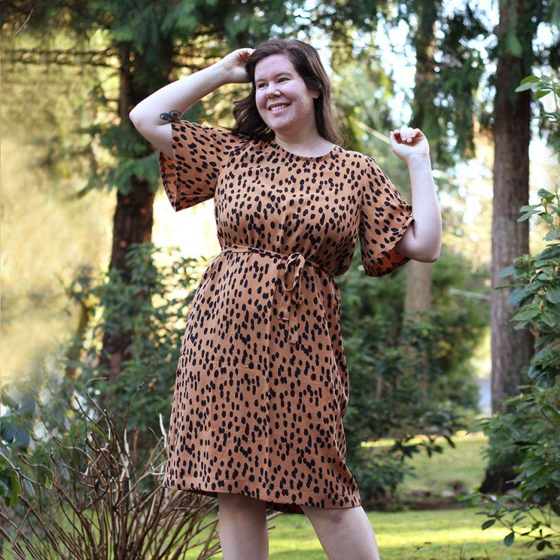 Ashton Butterfly Sleeve Dress
