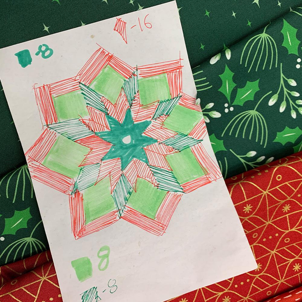 Tree Skirt design sketch.