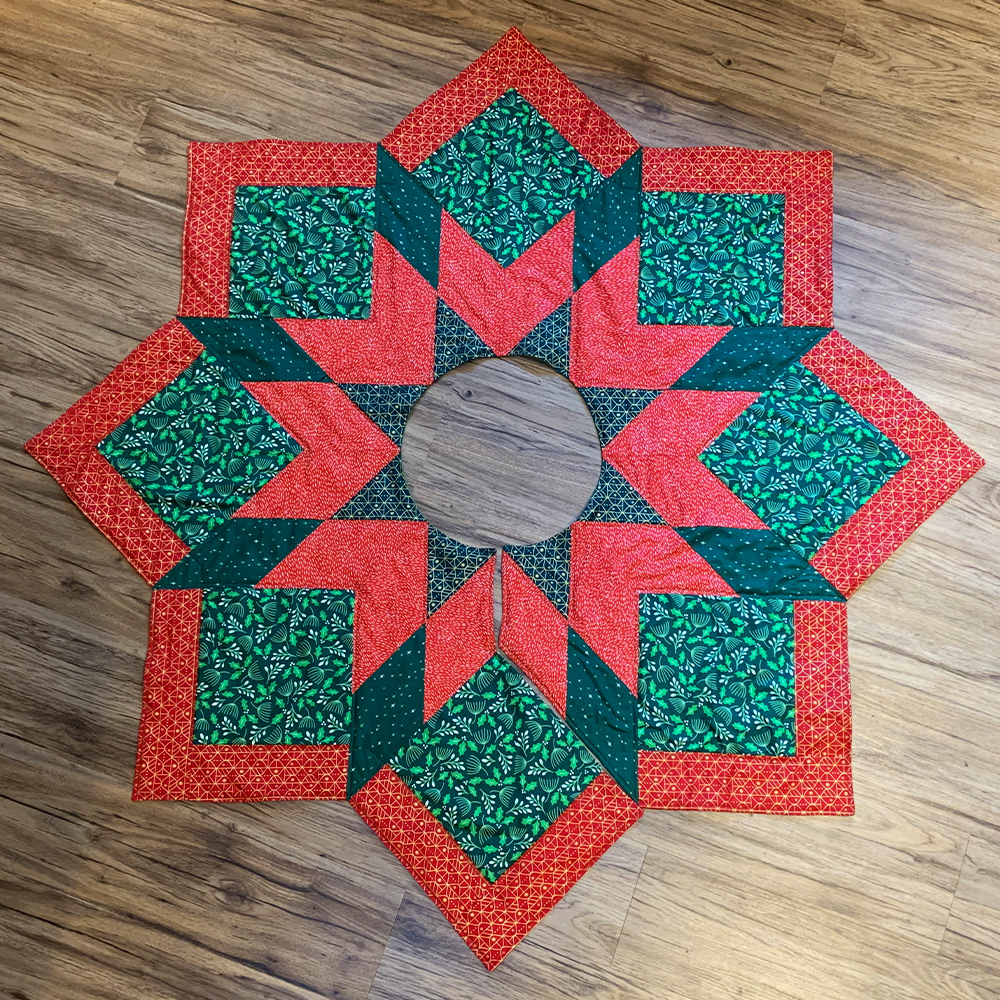 Christmas Tree Skirt Quilted