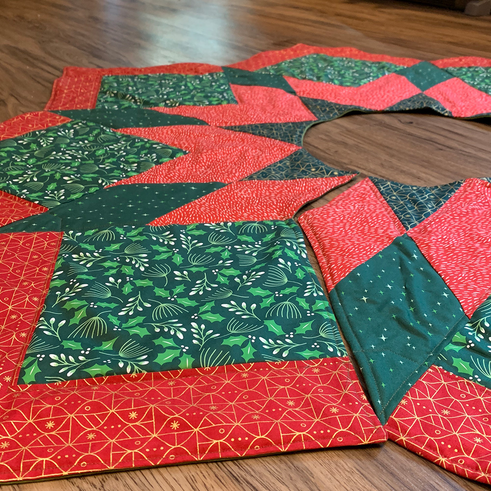 Quilted Tree Skirt top.
