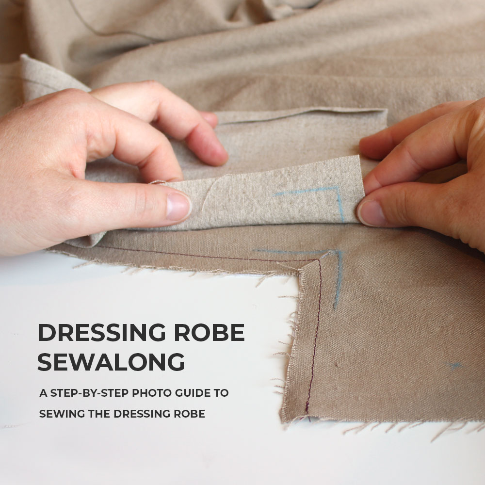 Dressing Robe Sewalong, a step-by-step guide to sewing the Helen's Closet Dressing Robe