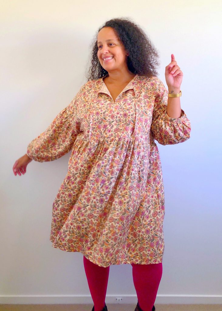 Helen's Closet March Dress, sewn in a rayon fabric by Flavia.