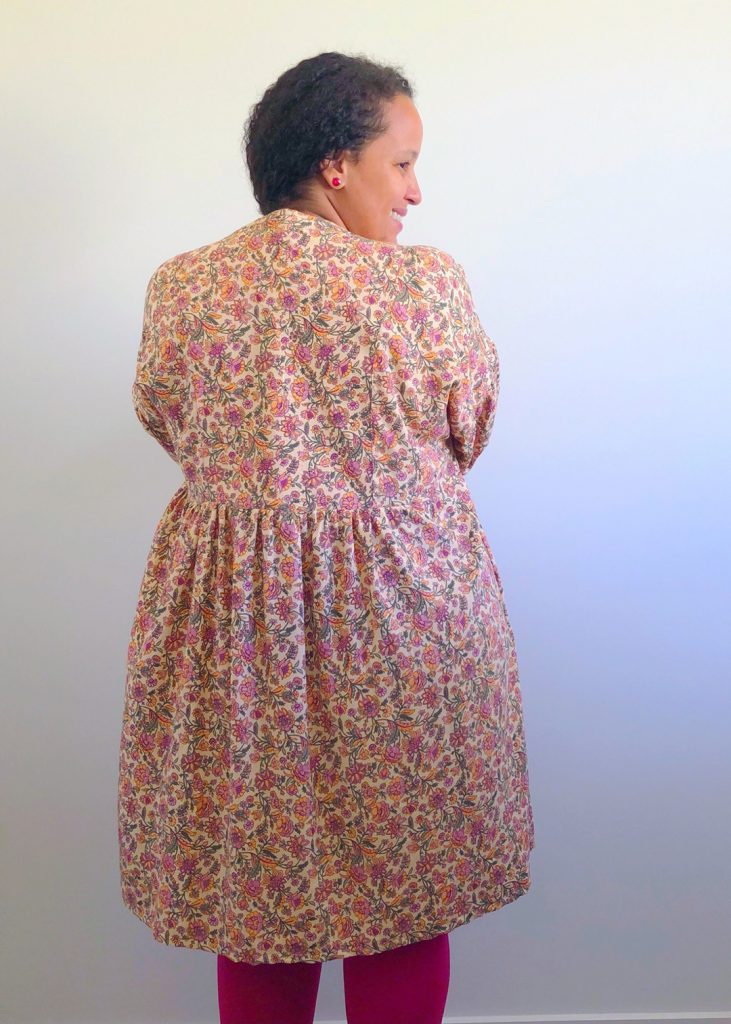 Flavia's March Dress, back view.