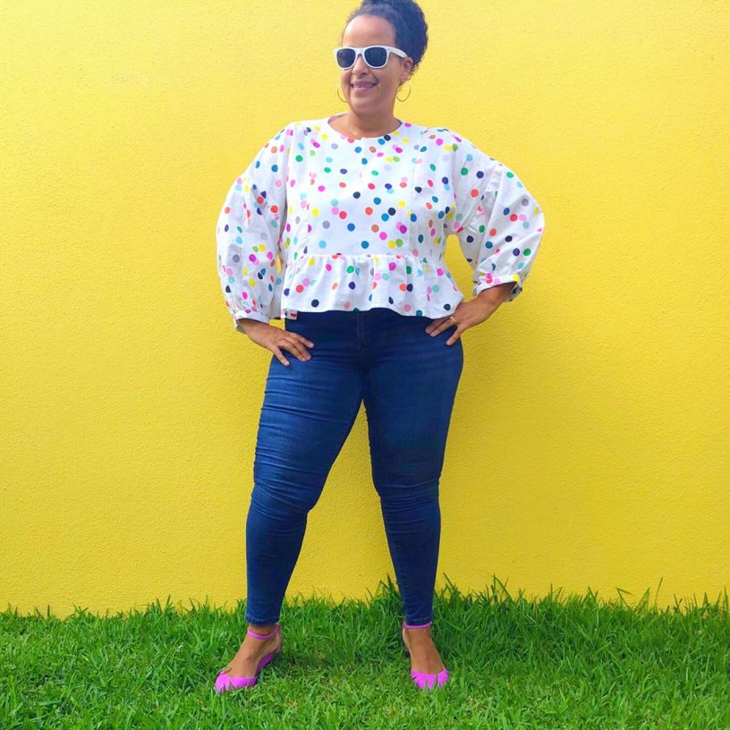 The March Top Sewing Pattern from Helen's Closet, made by Flavia (@flav_made_this)