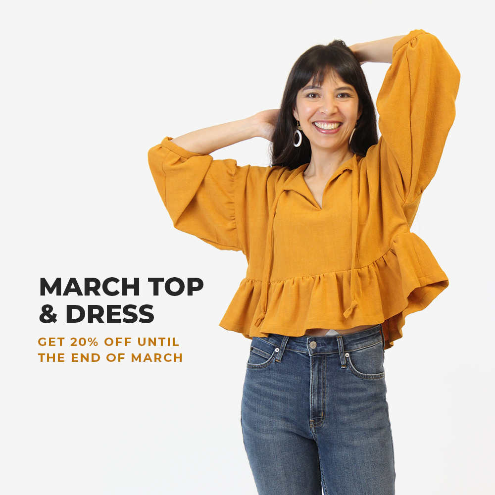 Get the March Top and Dress for 20% off through the end of March!