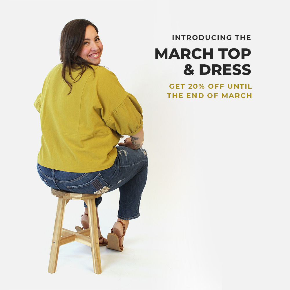 Introducing the March Top and Dress pattern from Helen's Closet. Get 20% off until the end of March, 2021!