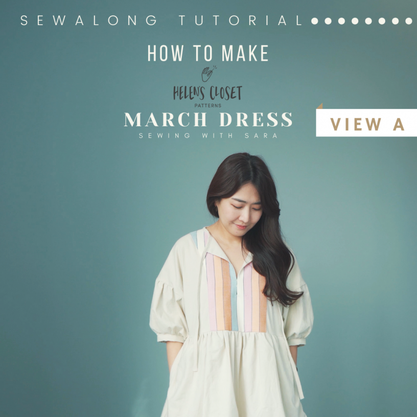 March Top and Dress sewalong from Sewing Therapy on Youtube