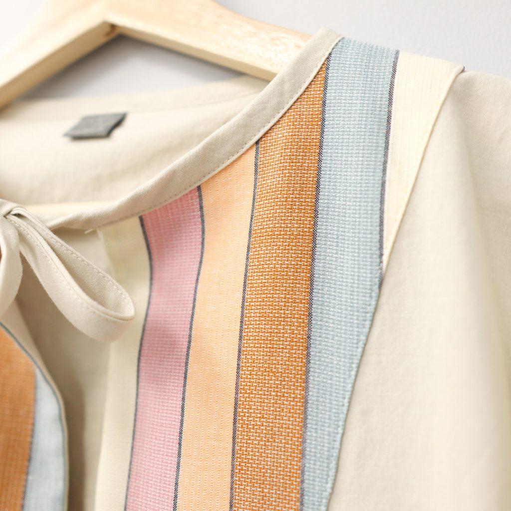 March pattern close of up necktie.