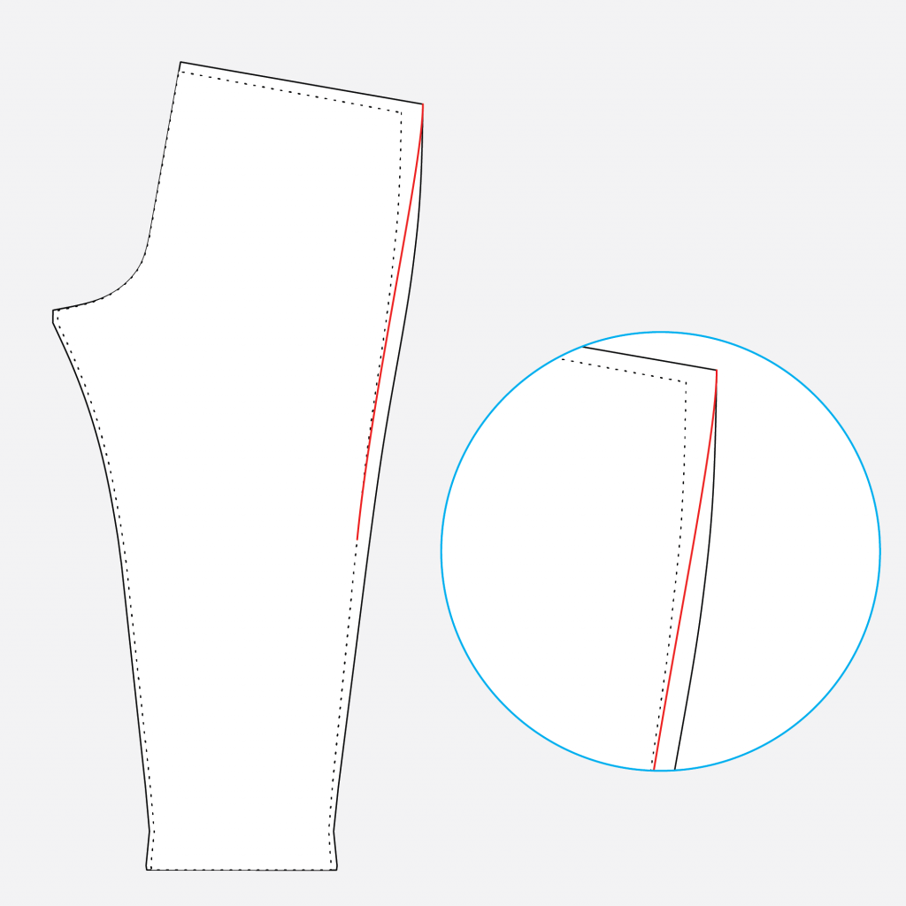 How to grade between sizes on the Arden Pants pattern.