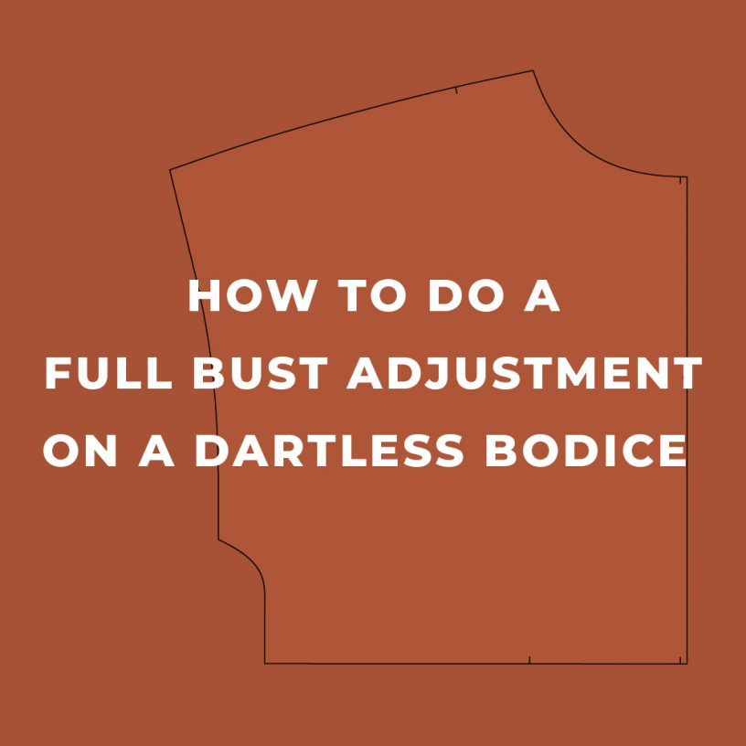 How to do a full bust adjustment (FBA) on a dartless bodice.