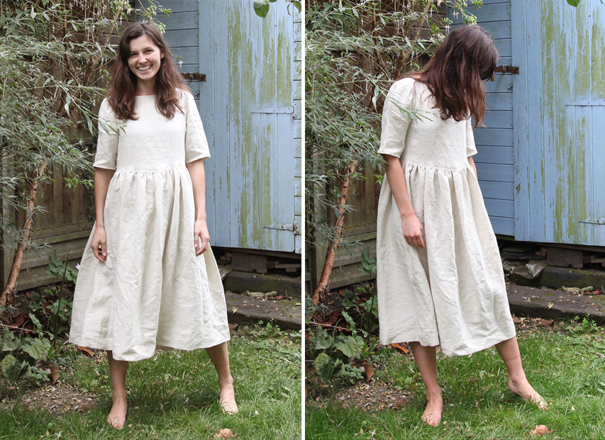 Free Linen Dress Pattern: Cora Half Sleeve Dress from Fabrics-Store.com