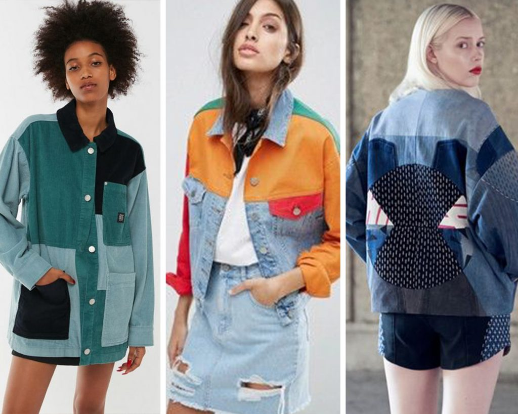 Scrap busting Ilford Jacket Inspiration (Sources left to right: Urban Outfitters, Asos, and ELINA PRIHA).