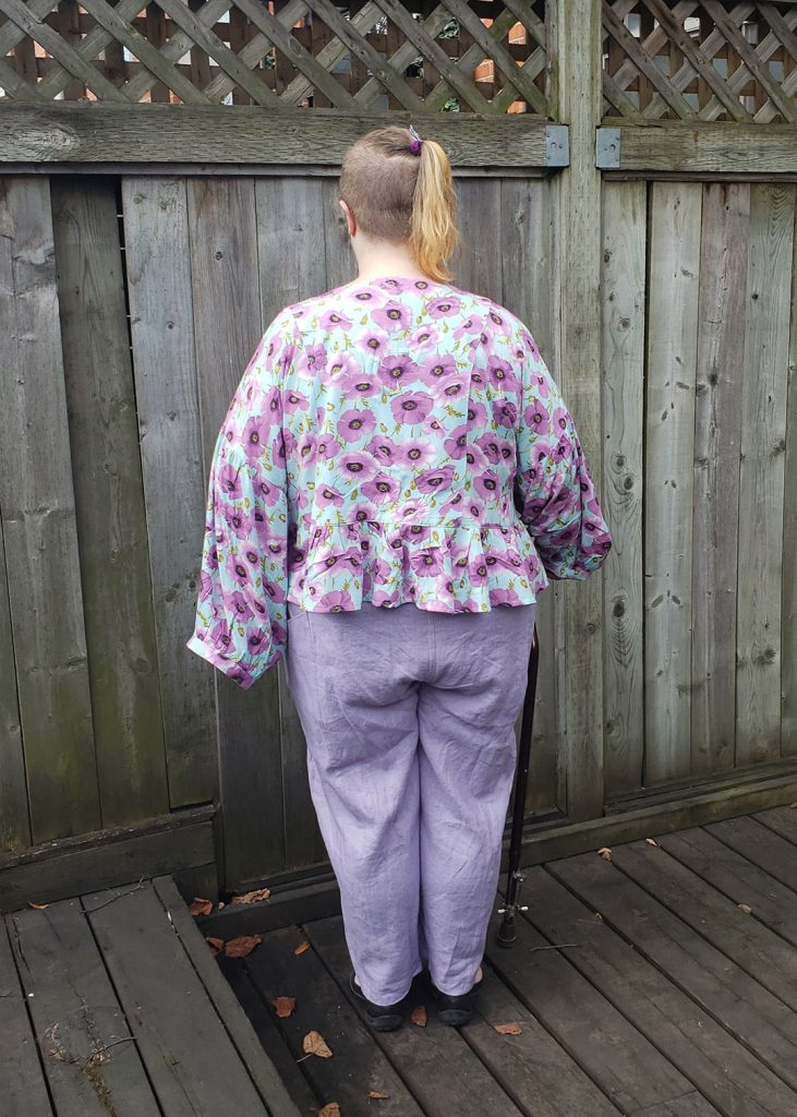 Andie's March Top in a drapey rayon by Helen's Closet Patterns