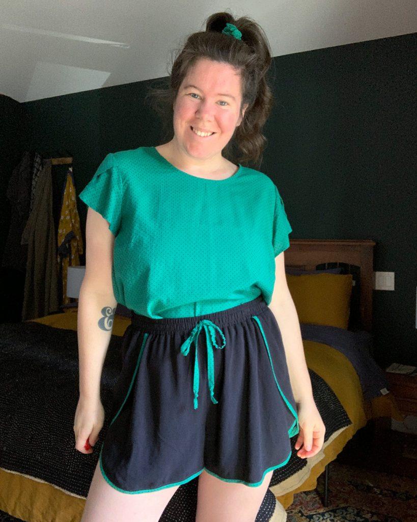 Helen's Ashton Top with Sleeves Sleepwear Set