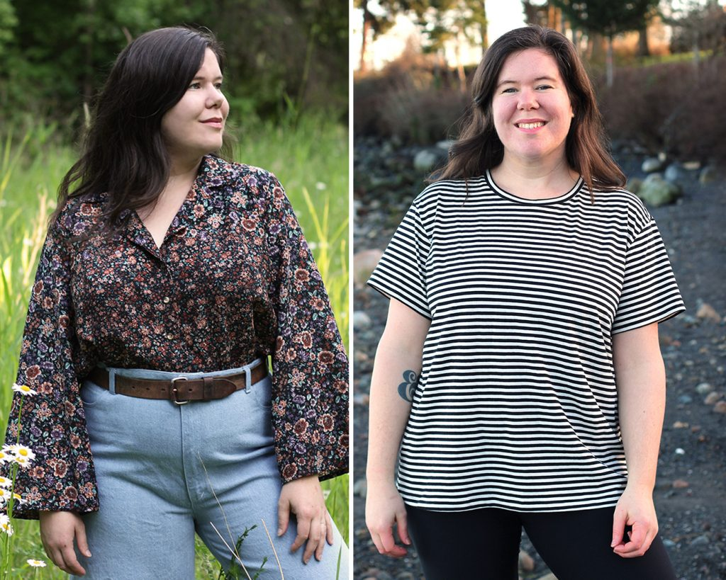 The Gilbert Top and Jackson Tee patterns from Helen's Closet. These sewing patterns would make great options for sleepwear!