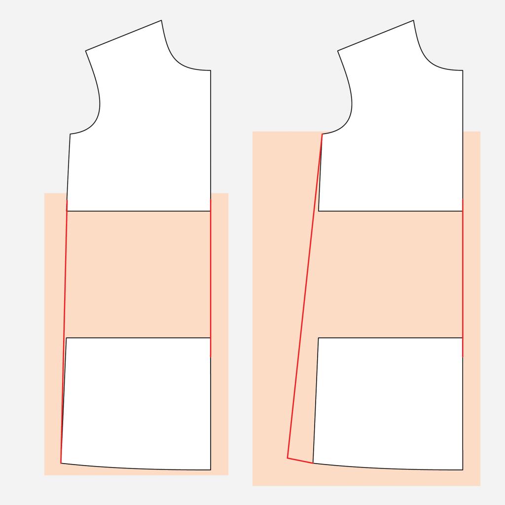 Jackson Tee Dress Hack Technical Illustration