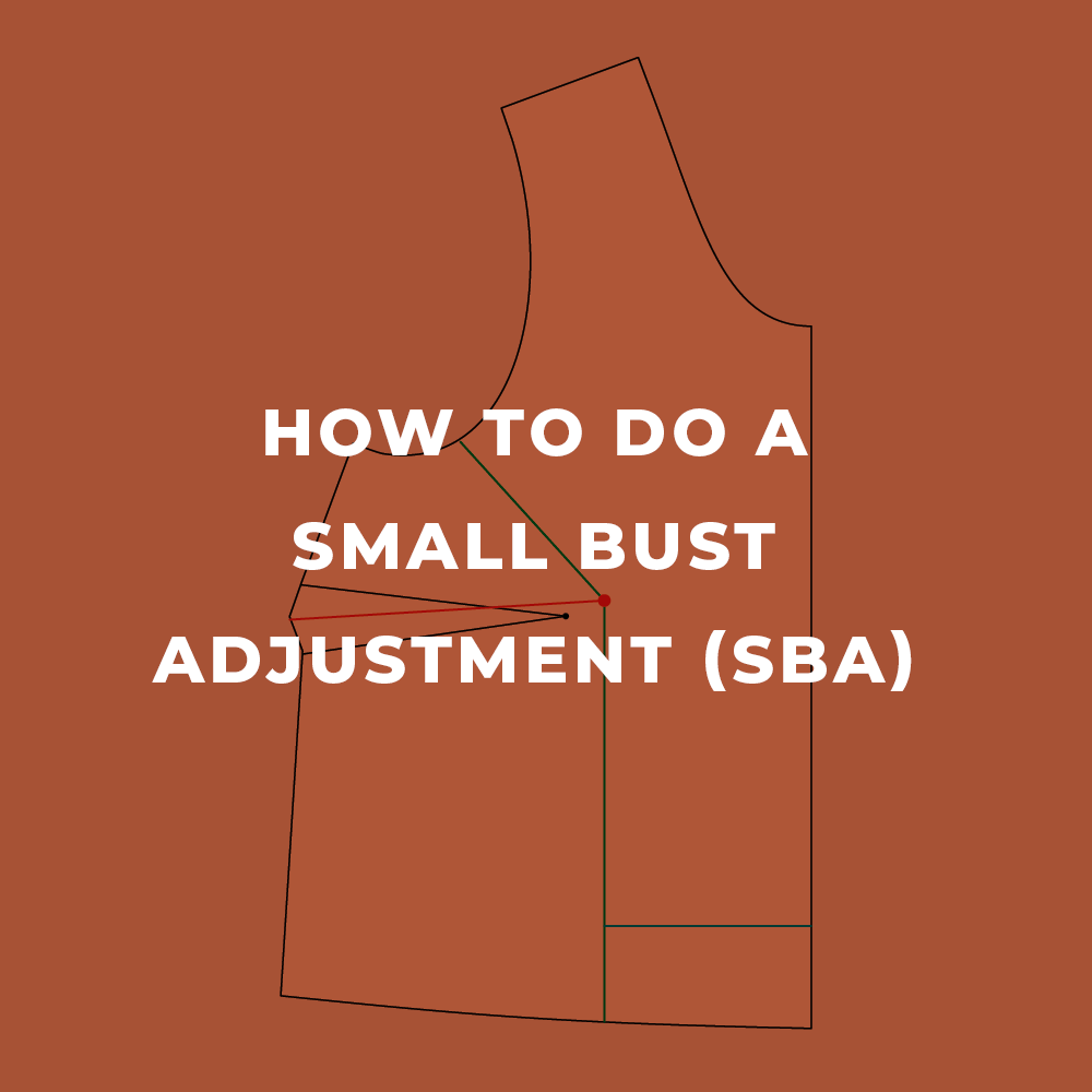 How to Do a Small Bust Adjustment (SBA)