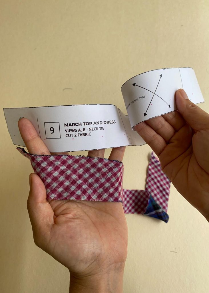March Dress front ties.