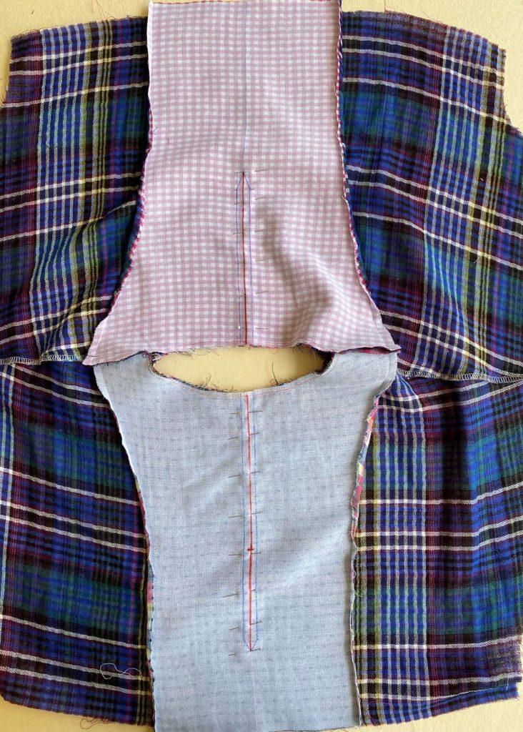 Geri of @geri_in_stitches March Winslow Jumpsuit Hack Neckline