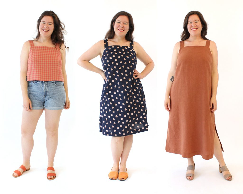 The Reynolds Top and Dress Sewing Pattern from Helen's Closet Patterns All Three Views