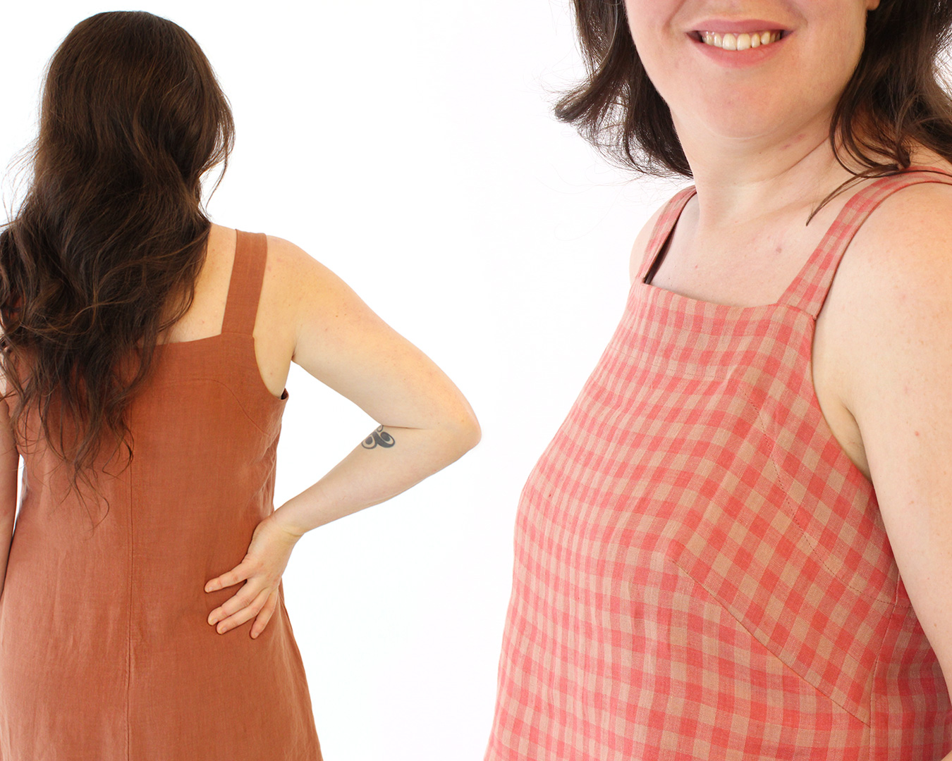 The Reynolds Top and Dress Sewing Pattern from Helen's Closet Patterns Topstitched Facing