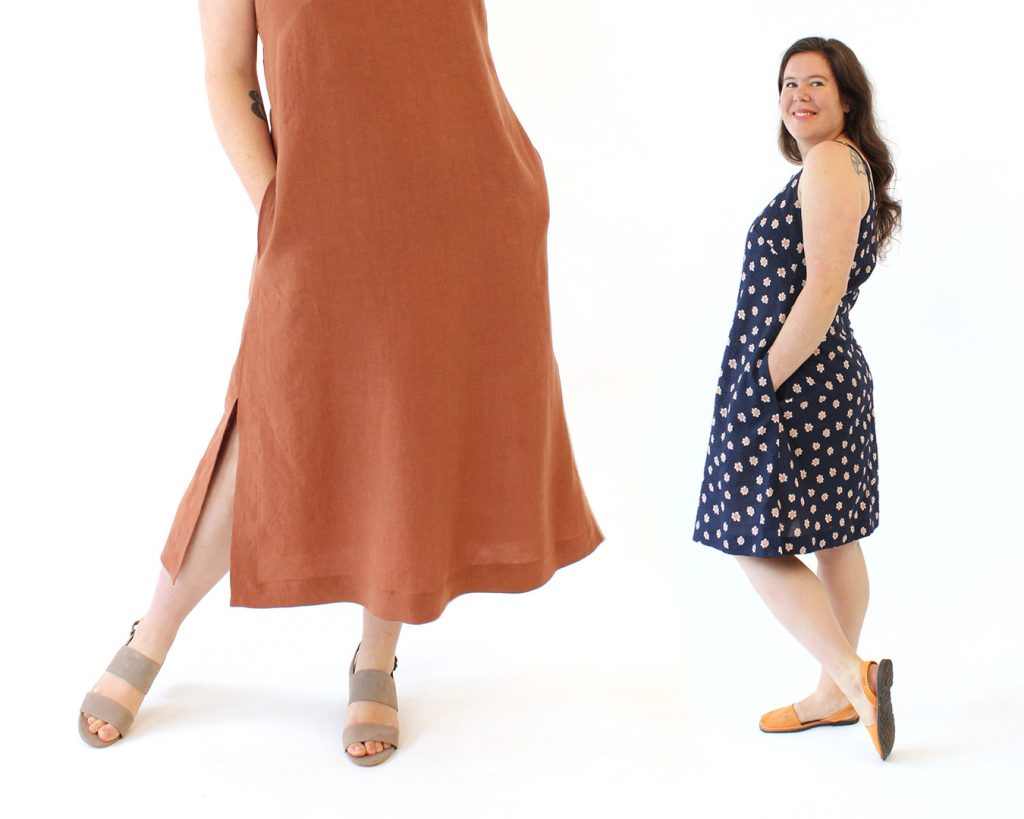 The Reynolds Top and Dress Sewing Pattern from Helen's Closet Patterns offers varying hem lengths.