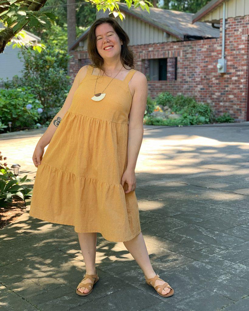 Reynolds Gathered Dress Tutorial from Helen's Closet Patterns