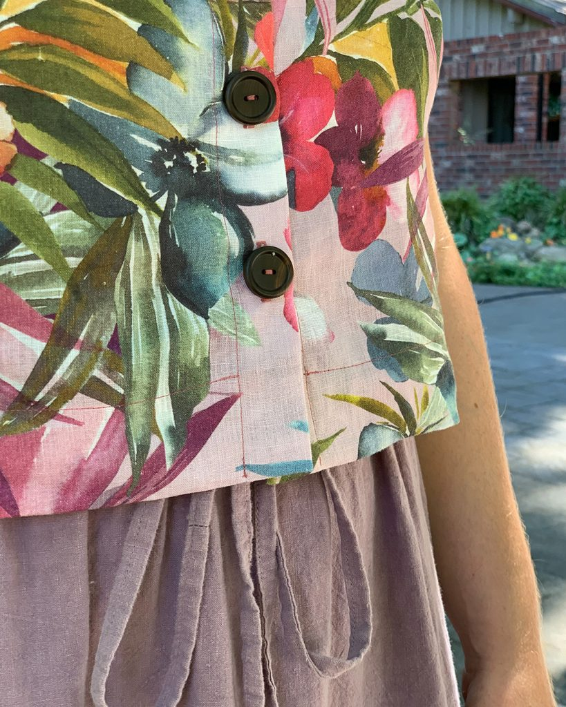 Helen's Reynolds Top and Dress Button Front Hack
