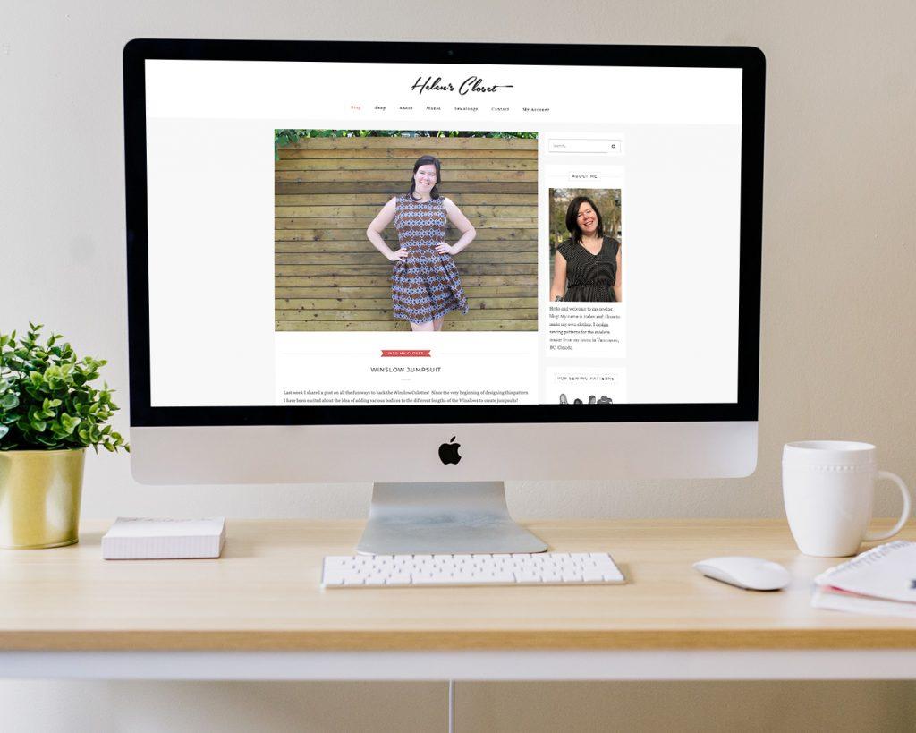 An early screenshot of the Helen's Closet blog in 2015.
