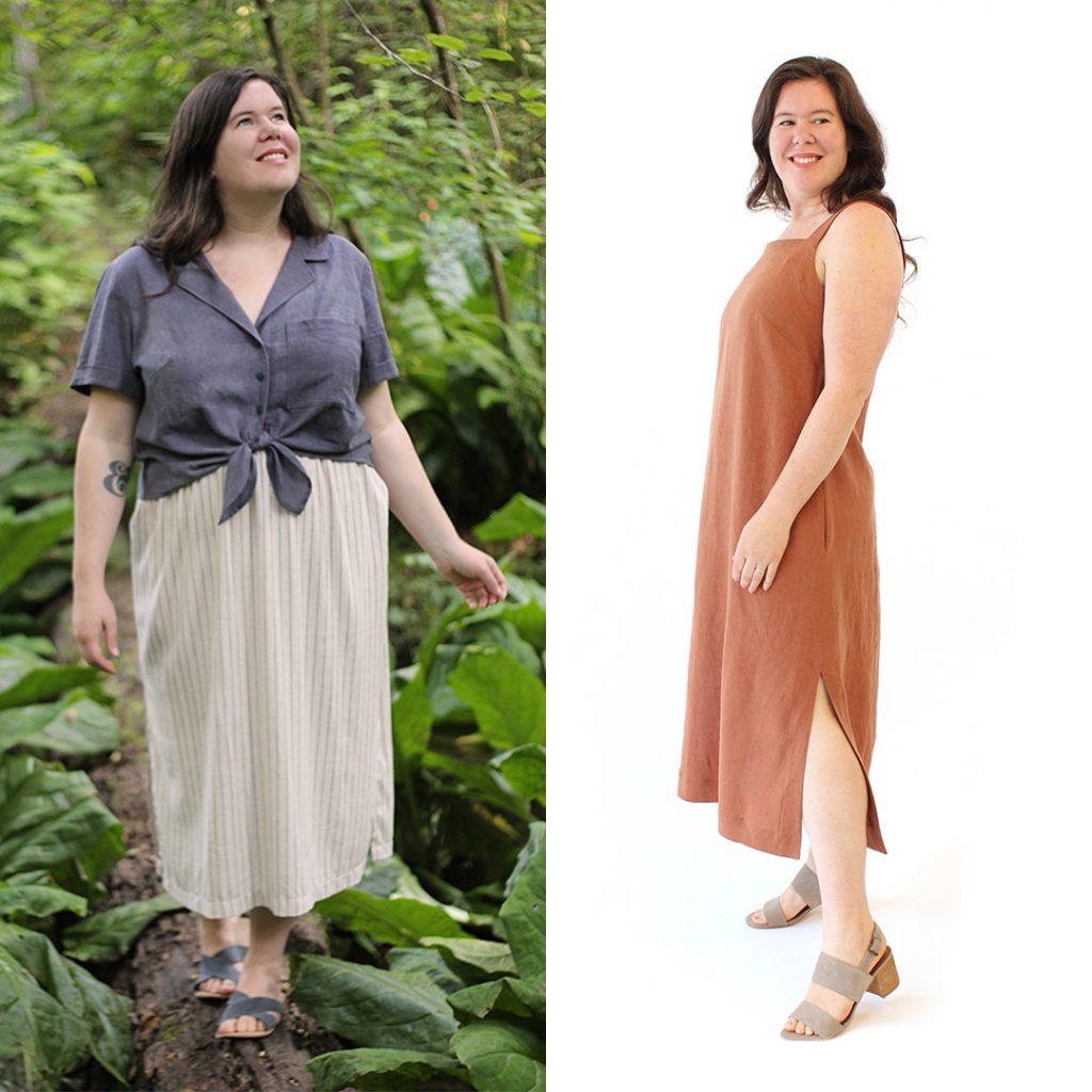 Gilbert Top and Reynolds Dress by Helen's Closet Patterns